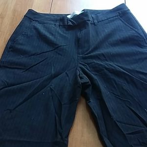 (3/$40) Black Pants with Royal Blue Pinstripe